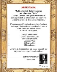 Coronavirus, Gabriele Maquignaz lancia raccolta fondi nazionale Arte Italia