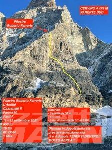 Montagna: si chiama 'L'amitié' la nuova via aperta sul Cervino
