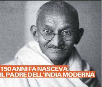La lezione di Gandhi, simbolo della lotta pacifista