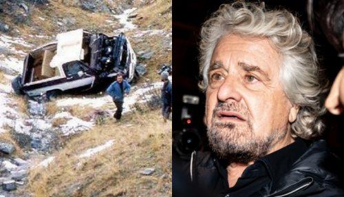 """""""Beppe Grillo rimuova i resti della sua auto"""". Il sindaco piemontese avvisa il comico"""