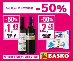 -50%, solo da Basko